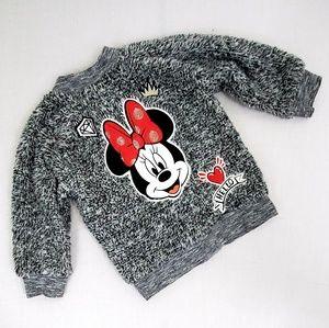 "Disney ""Minnie""  Zip Jacket Faux Fur Size 12M"